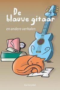 omslag kinderboek De blauwe gitaar voor anderstaligen van Karine Jekel