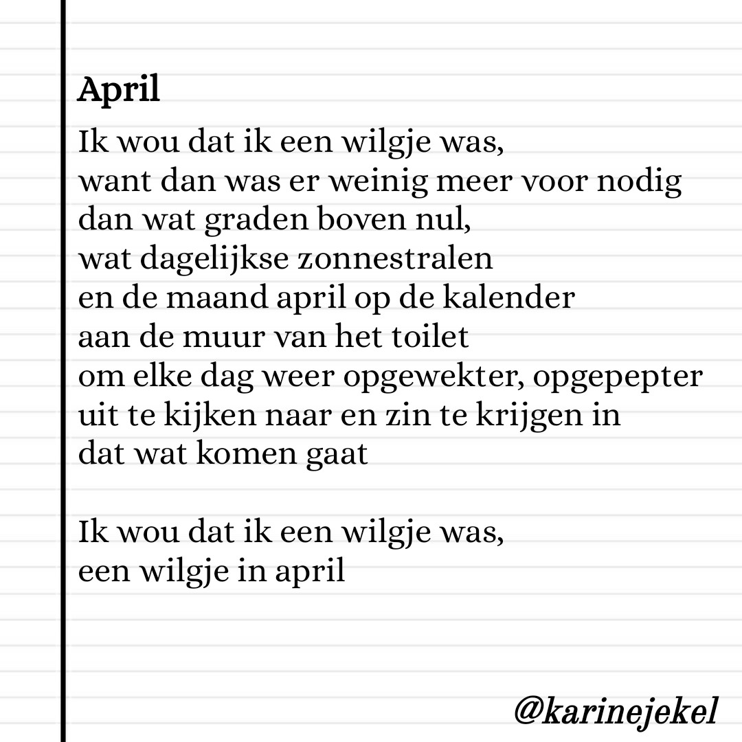 Gedicht April karinedicht
